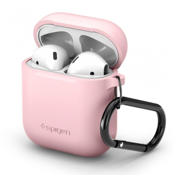 Spigen silikonové pouzdro pro AirPods - růžové