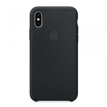 Apple iPhone Xs Silicone Case černé - MRW72FE/A