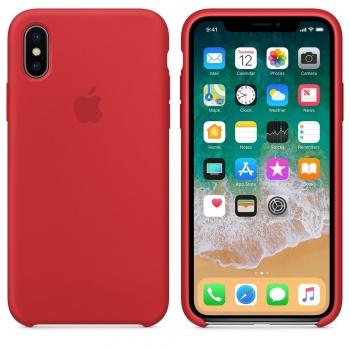 Apple iPhone Xs Silicone Case - červené MDKN2FE/A