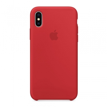 Apple iPhone Xs Silicone Case - červené MDKN2FE/A