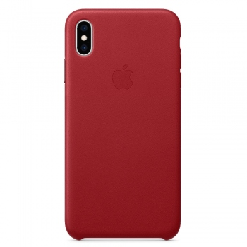 Apple iPhone Xs Leather Case - Red