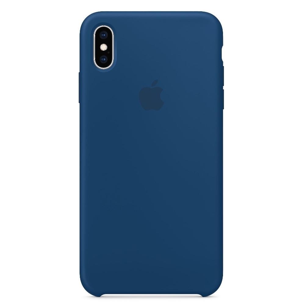 Apple silikonový kryt na iPhone Xs Max - Podvečerně Modrý MTFE2FE/A