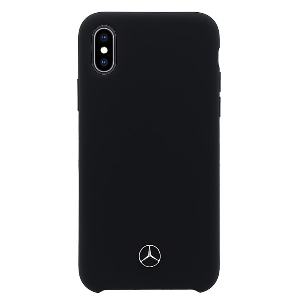Mercedes-Benz Lining Silicone kryt pro iPhone Xs Max - černý
