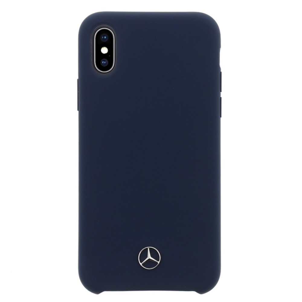 Mercedes-Benz Lining Silicone kryt pro iPhone Xs Max - námořnicky modrý