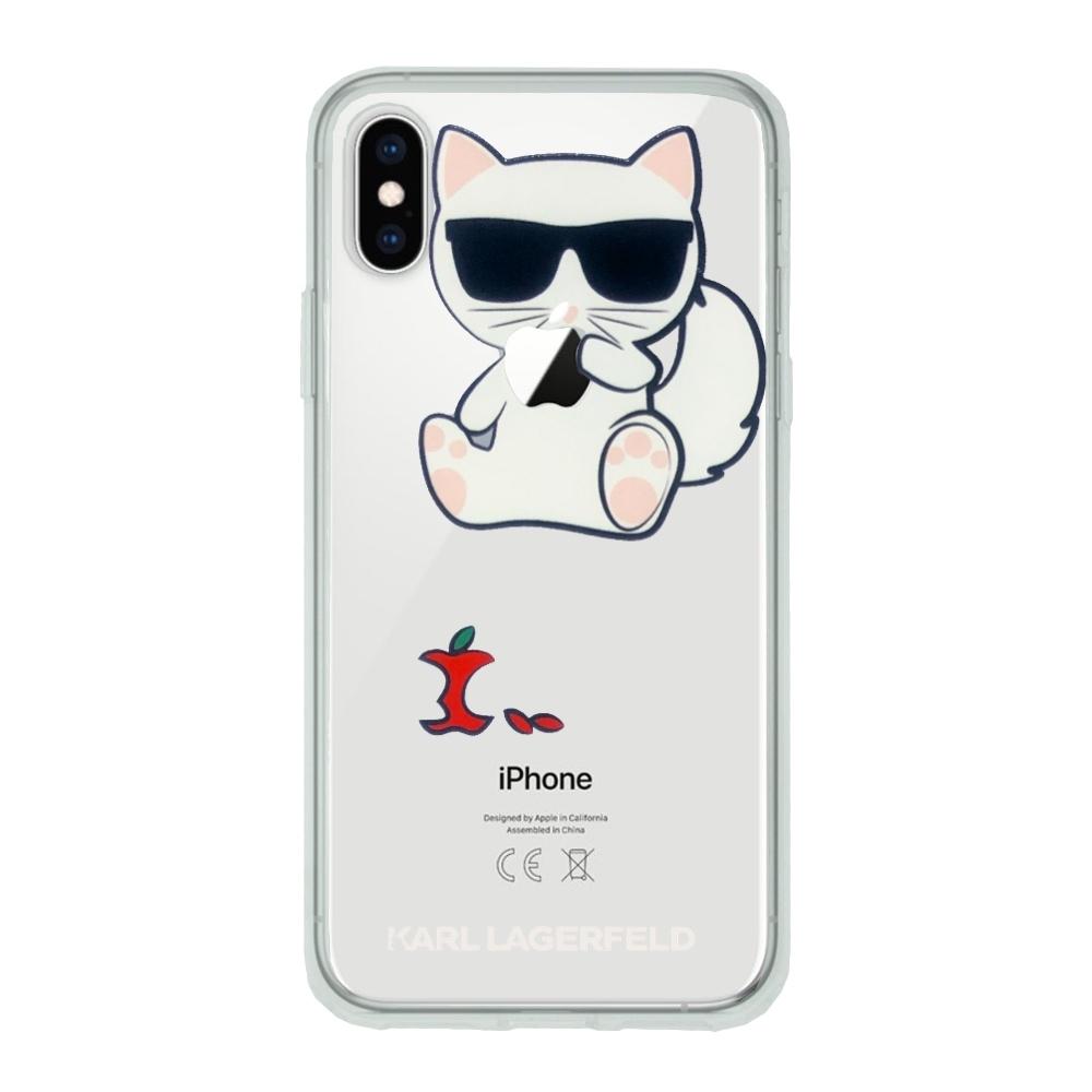 Karl Lagerfeld Choupette Fun Eaten Apple - kryt pro iPhone Xs / X