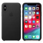 Apple originální kožený kryt na iPhone Xs černý - MRWM2ZM/A