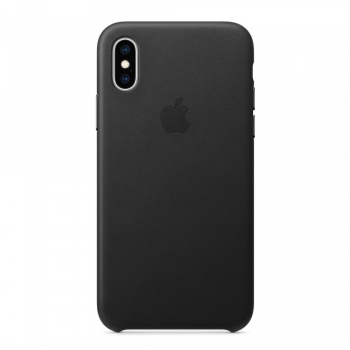 Apple iPhone Xs Leather Case Black