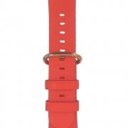 Kožený řemínek s přezkou pro Apple Watch 38/40mm - červený
