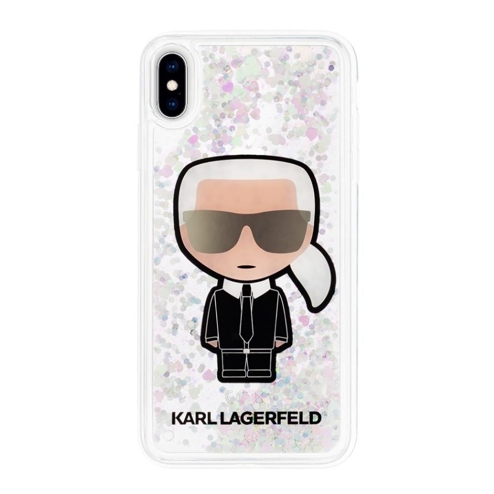 Karl Lagerfeld Ikonik Glitter Iridescent kryt pro iPhone Xs / X