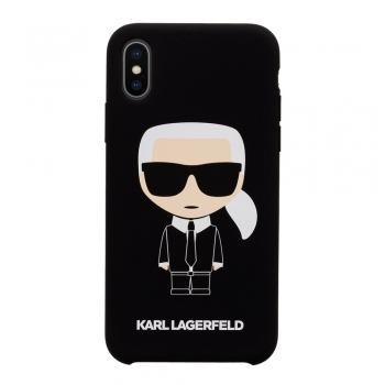Karl Lagerfeld Ikonik Silicone Case - kryt na iPhone Xs / X