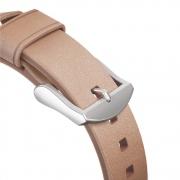 Nomad Modern Natural Leather Strap řemínek pro Apple Watch 38/40mm - stříbrná přezka