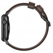Nomad Modern Leather Strap Brown řemínek pro Apple Watch 42/44mm - černé přezky