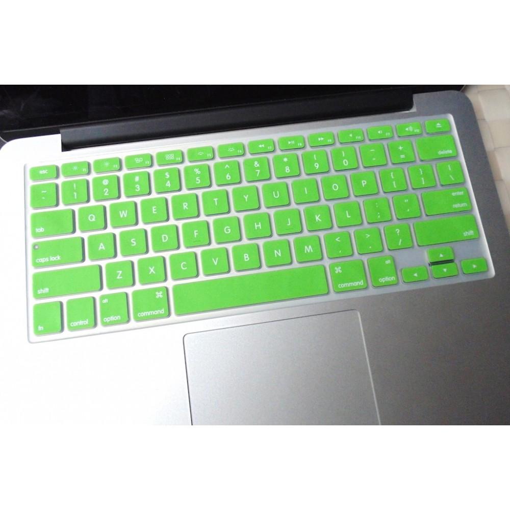 Barevný kryt klávesnice pro Macbook 13,15,17 US, Zelená