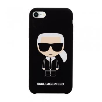 Karl Lagerfeld Ikonik Silicone Case - kryt na iPhone 8 / 7 - černý