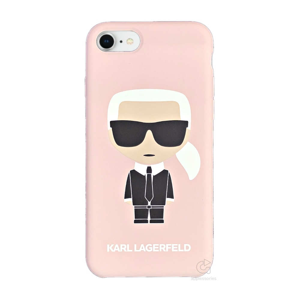 Karl Lagerfeld Ikonik Silicone Case - kryt na iPhone 8 / 7 - růžový