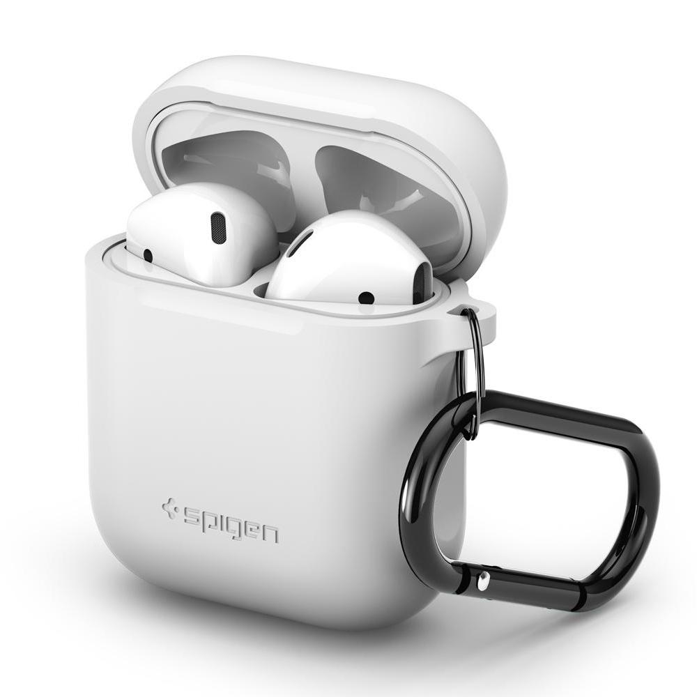 Spigen silikonové pouzdro pro AirPods - bílé