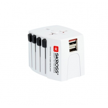 SKROSS Universal Travel Charger with dual USB ports