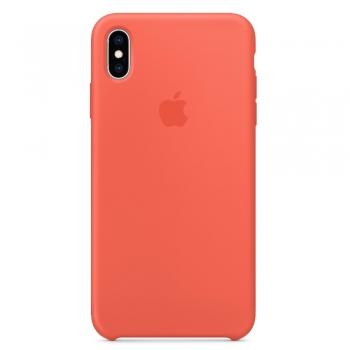 Apple silikonový kryt na iPhone Xs Max - Nektarinkové
