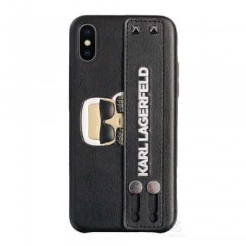 Karl Lagerfeld Sneaky Strap Hard Case for iPhone Xs / X