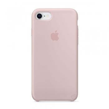 Apple silikonový kryt na iPhone 8 / 7 - pískově růžový