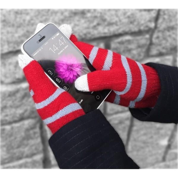 TouchGloves - dotykové rukavice červené