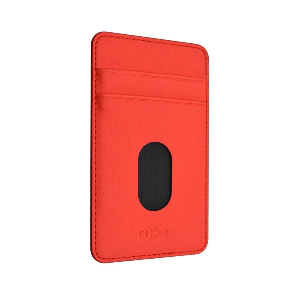 Fixed Caddy - samolepící kapsa na telefon - červená