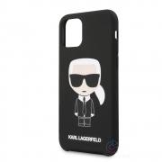 Karl Lagerfeld Ikonik Silicone Case iPhone 11 Pro - černý