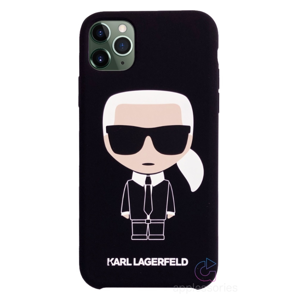 Karl Lagerfeld Ikonik Silicone Case iPhone 11 Pro Max - černý
