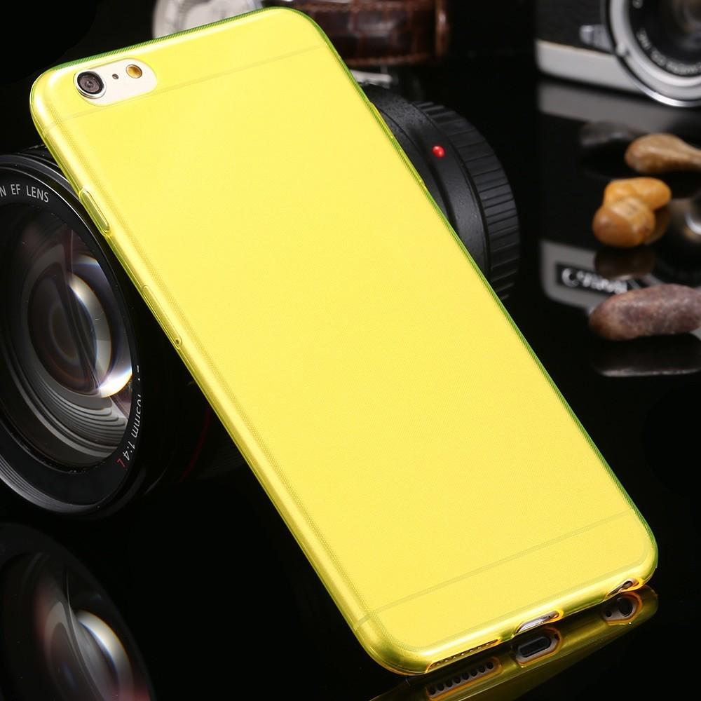Pouzdro Jelly Case iPhone 6/6S FITTY, Žlutá