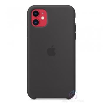 Apple silikonový kryt na iPhone 11 - černý