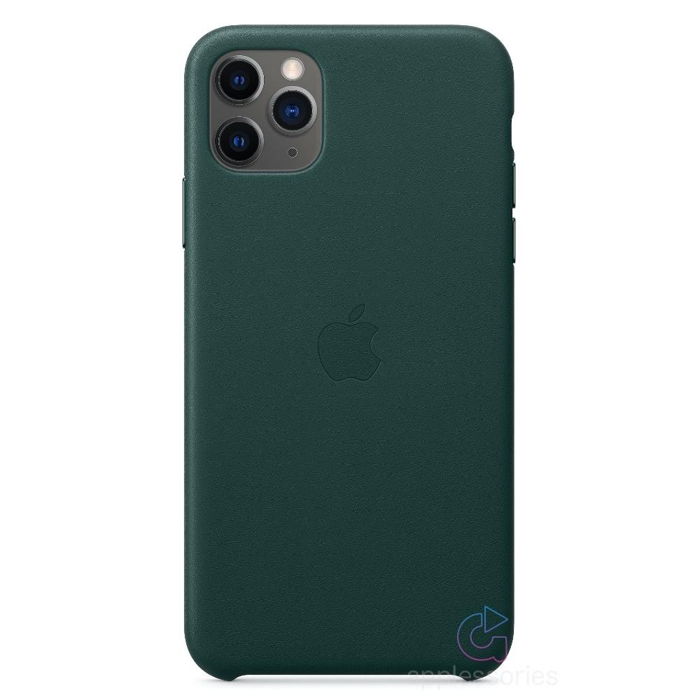 Apple kožený kryt na iPhone 11 Pro Max - Piniově zelený MX0C2ZM/A