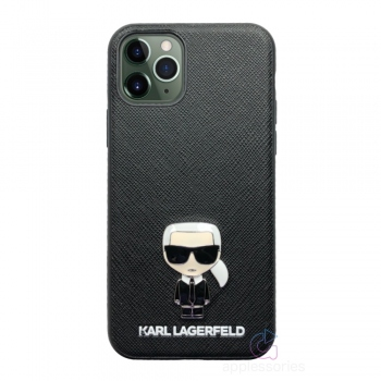 Karl Lagerfeld Ikonik Saffiano Case for iPhone 11 Pro