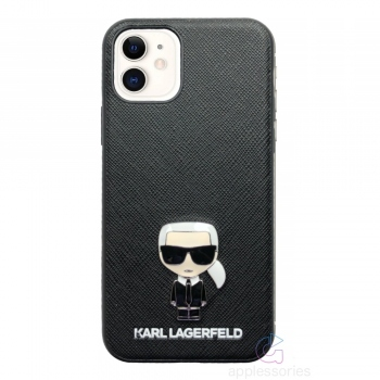 Karl Lagerfeld Ikonik Saffiano Case for iPhone 11