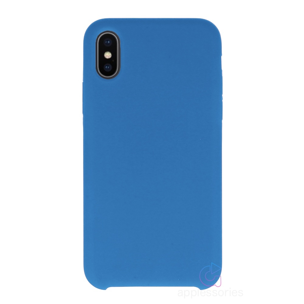 Applessories silikonový kryt pro iPhone Xs / X - modrý