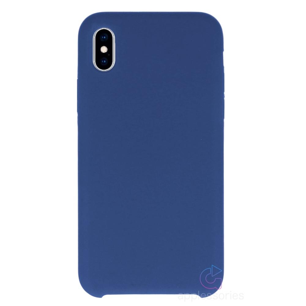 Applessories Silikonový kryt pro iPhone Xs Max - modrý