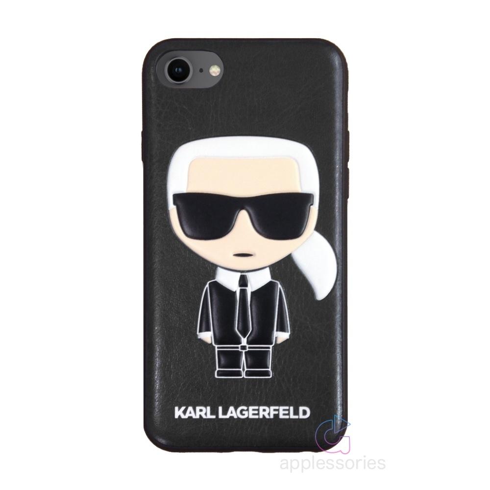 Karl Lagerfeld Ikonik kryt pro iPhone SE / 8 / 7 - černý