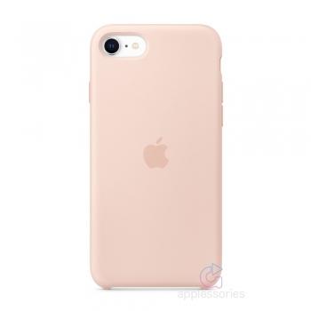 Apple silikonový kryt na iPhone SE (2020) - pískově růžové