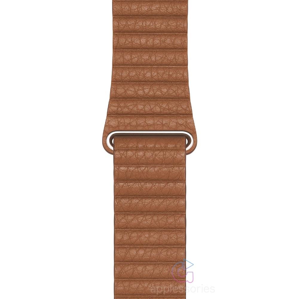 Coteetci kožený magnetický řemínek pro Apple Watch 42mm / 44mm - sedlově hnědý