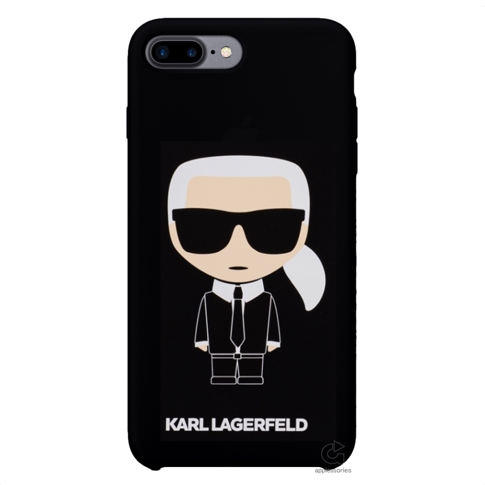 Karl Lagerfeld Ikonik silikonový kryt pro iPhone 8 Plus / 7 Plus