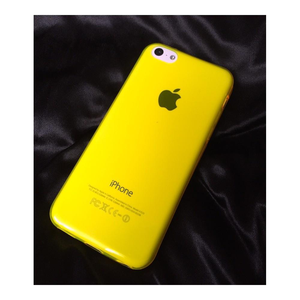Silikonový kryt na iPhone 5C, Barva Žlutá