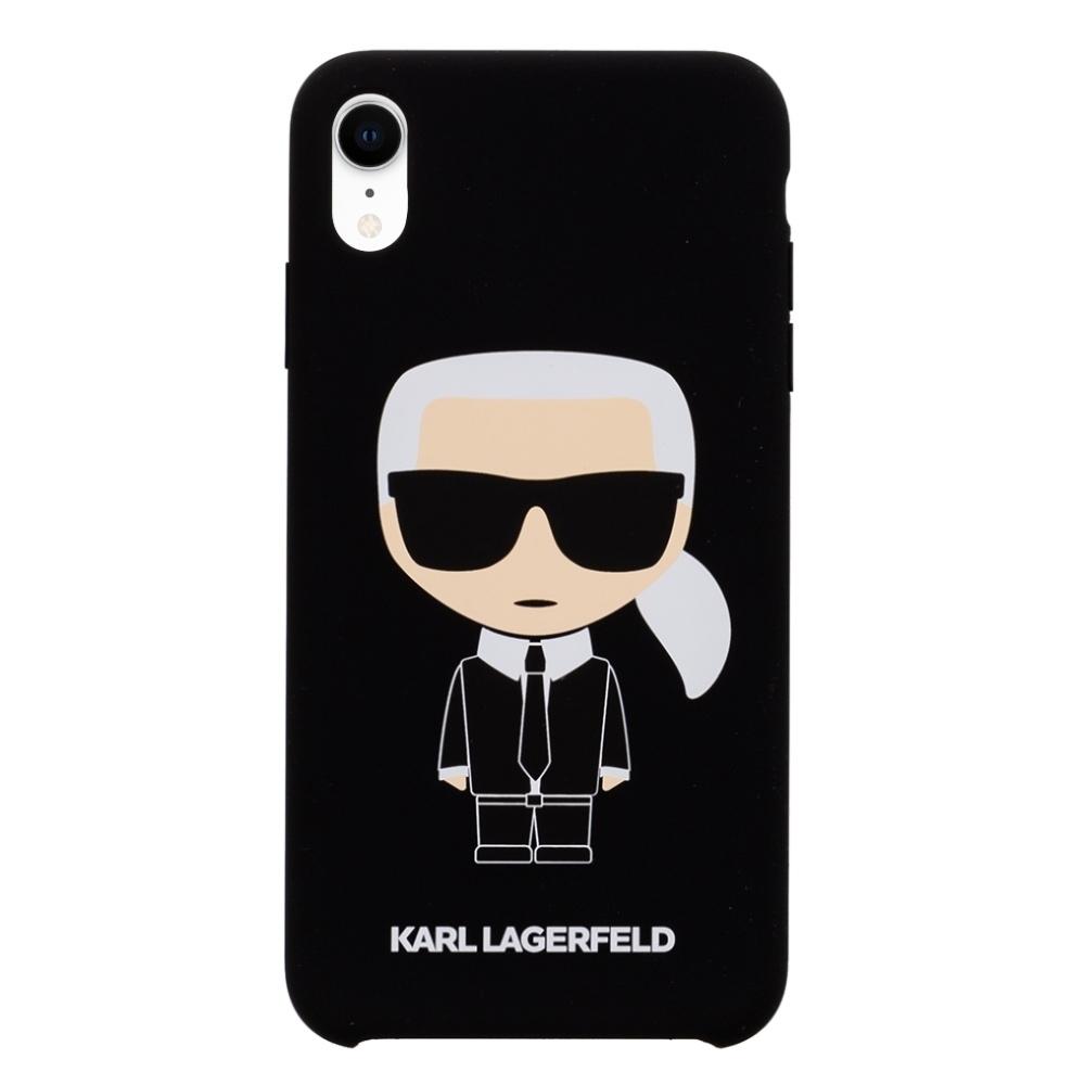 Karl Lagerfeld Ikonik Silicone kryt na iPhone XR - černý