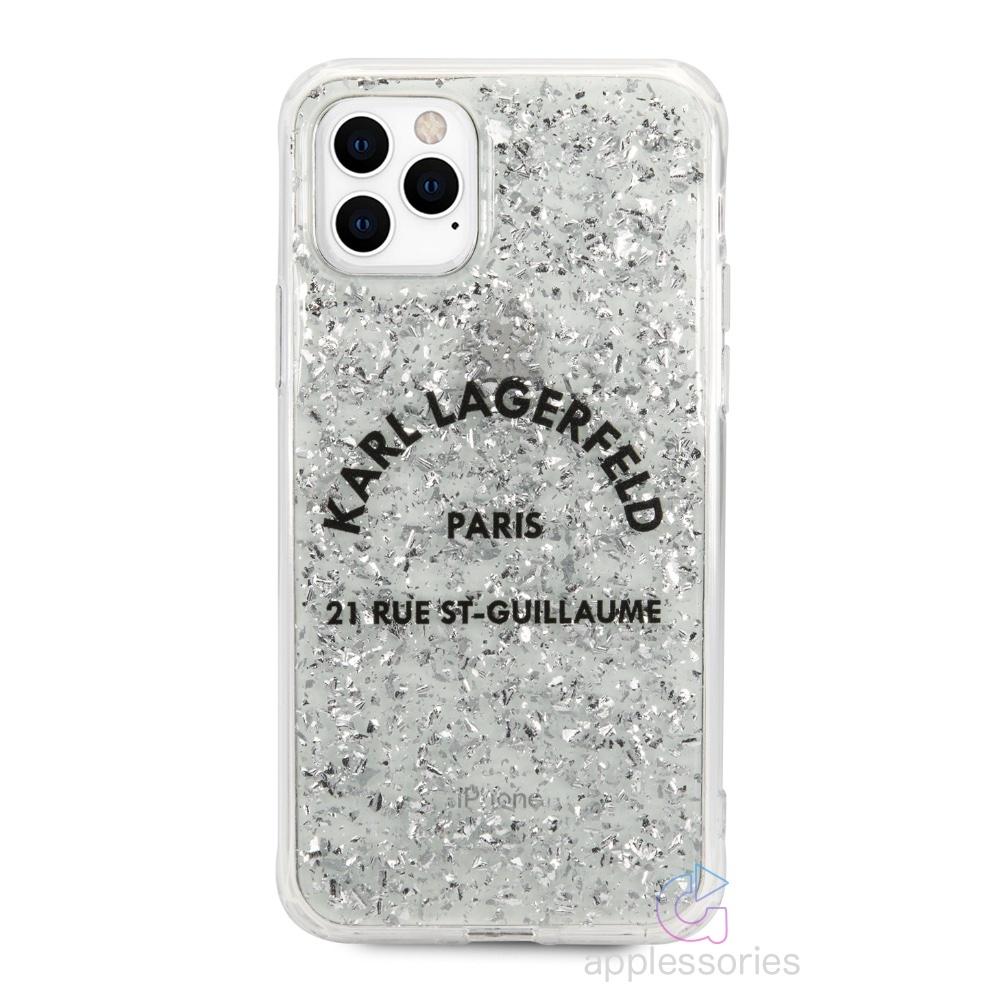 Karl Lagerfeld St. Guillaume Glitter kryt pro iPhone 11 Pro