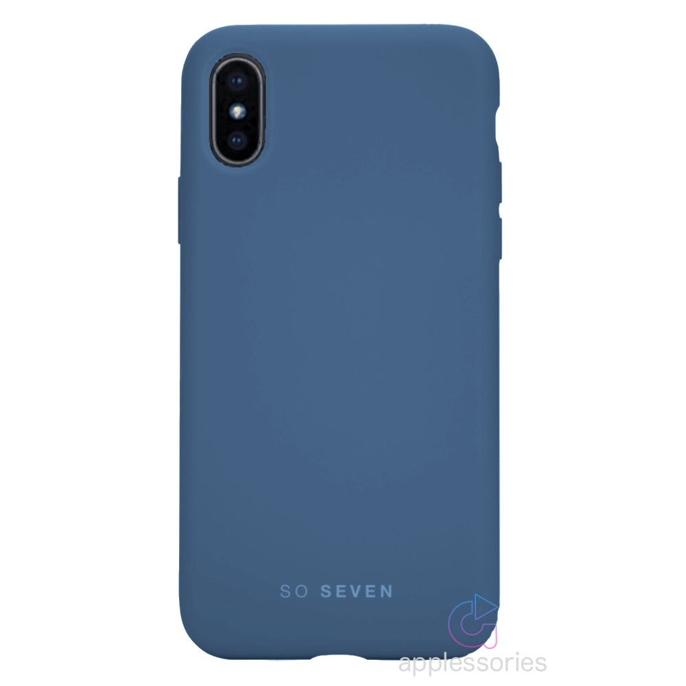SoSeven Smoothie for iPhone Xs Max - tmavě modrá