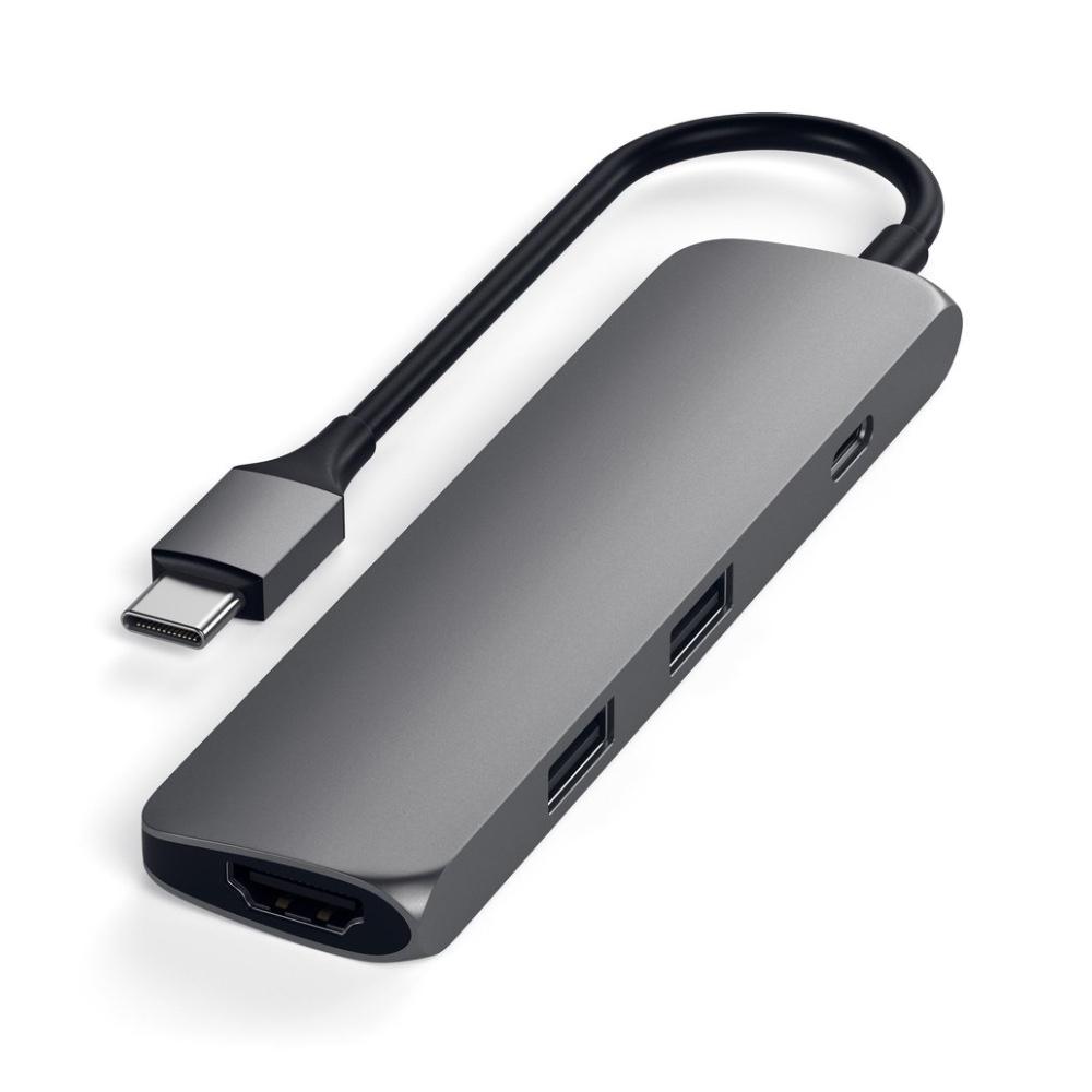 Satechi USB-C Slim Multiport Adapter - space grey