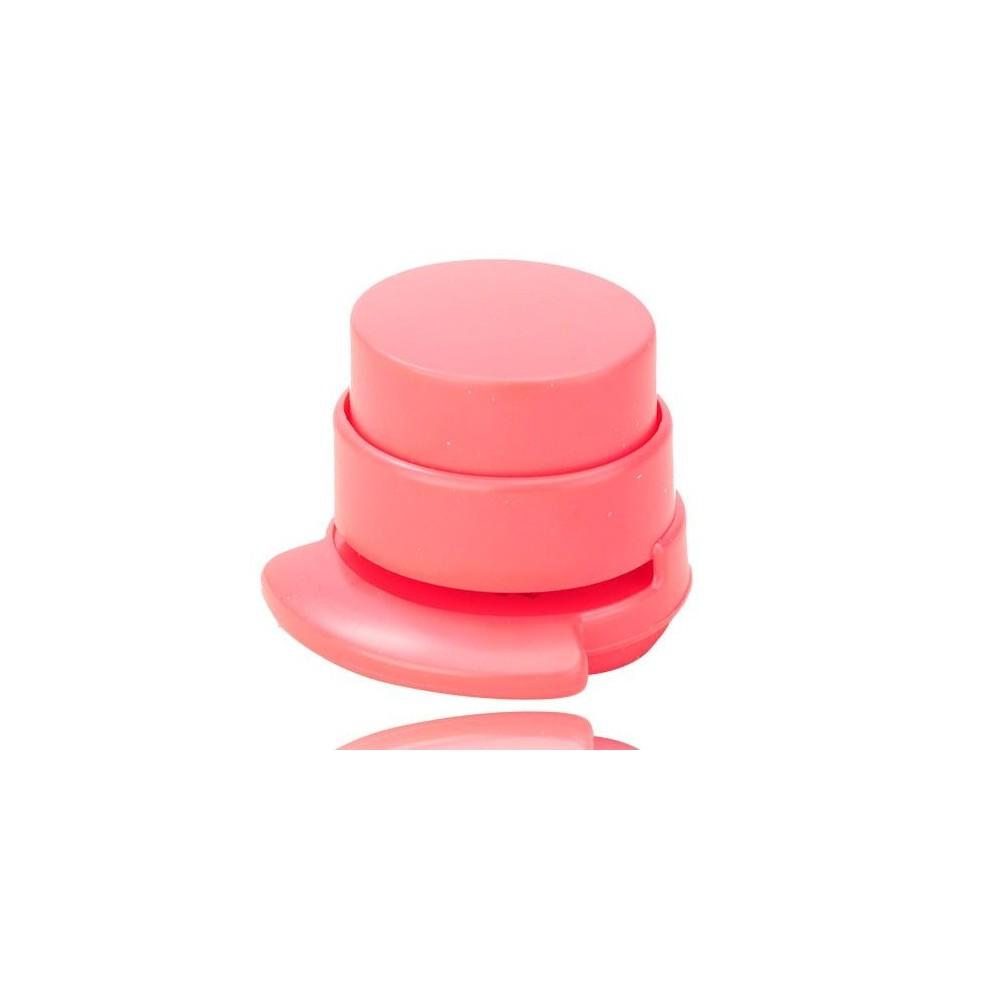 Eko sešívačka - beznáplňová, Barva Růžová