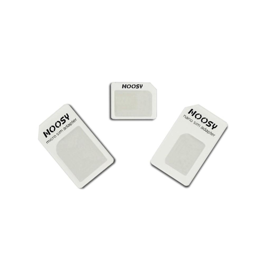 Noosy redukce na SIM kartu (Nano, Micro, Mini SIM)
