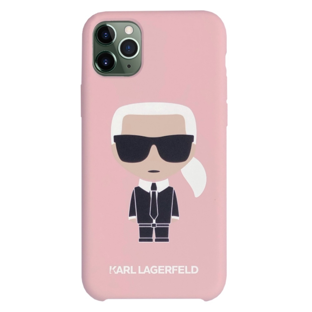 Karl Lagerfeld Ikonik Silicone Case iPhone 11 Pro Max - růžový