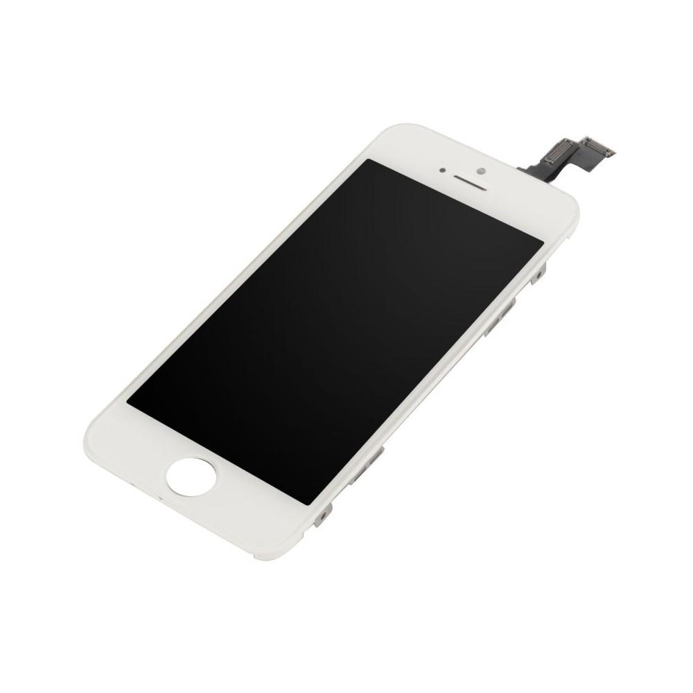 Kompletní LCD panel - displej pro Apple iPhone 5S, Barva Bílá, Stav Repasované
