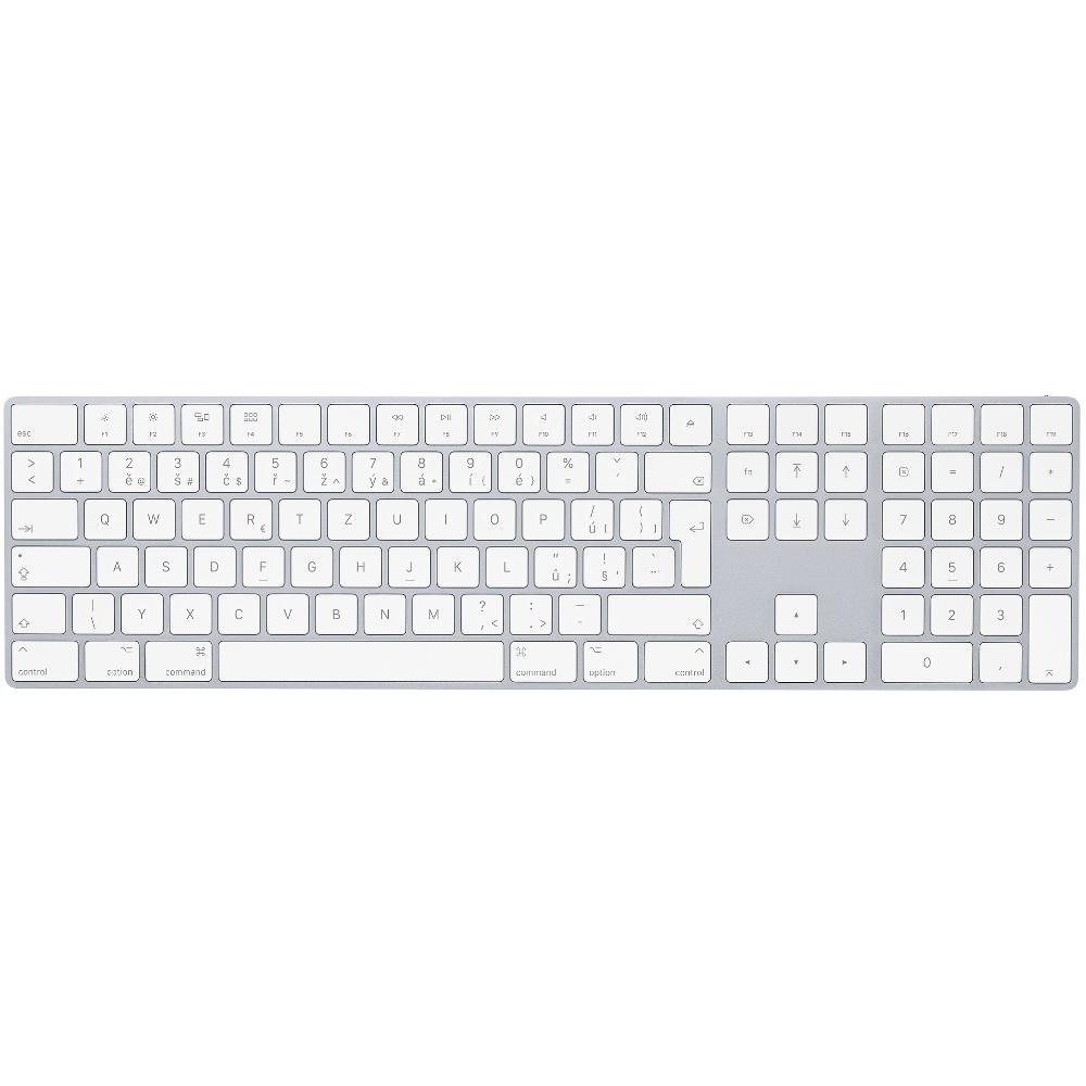 Apple Magic Keyboard s numerickou klávesnicí CZ - stříbrná