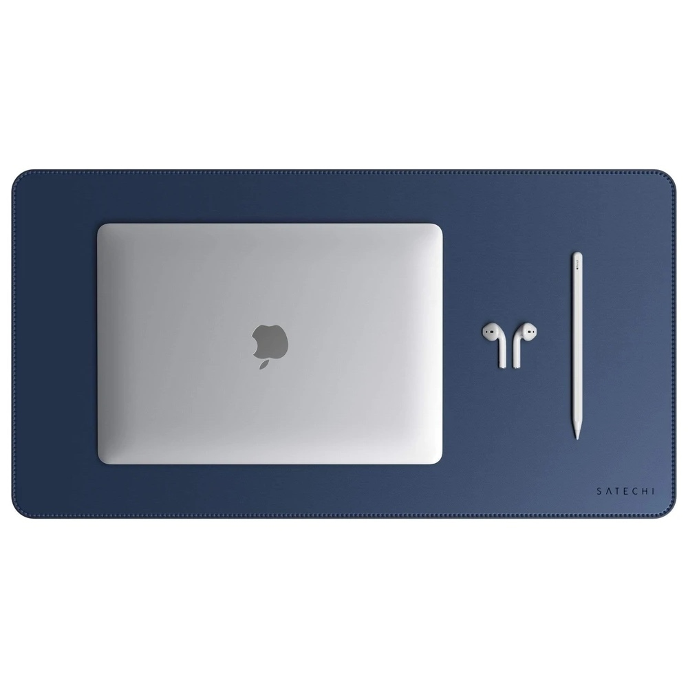 Satechi DeskMate podložka z eko kůže modrá